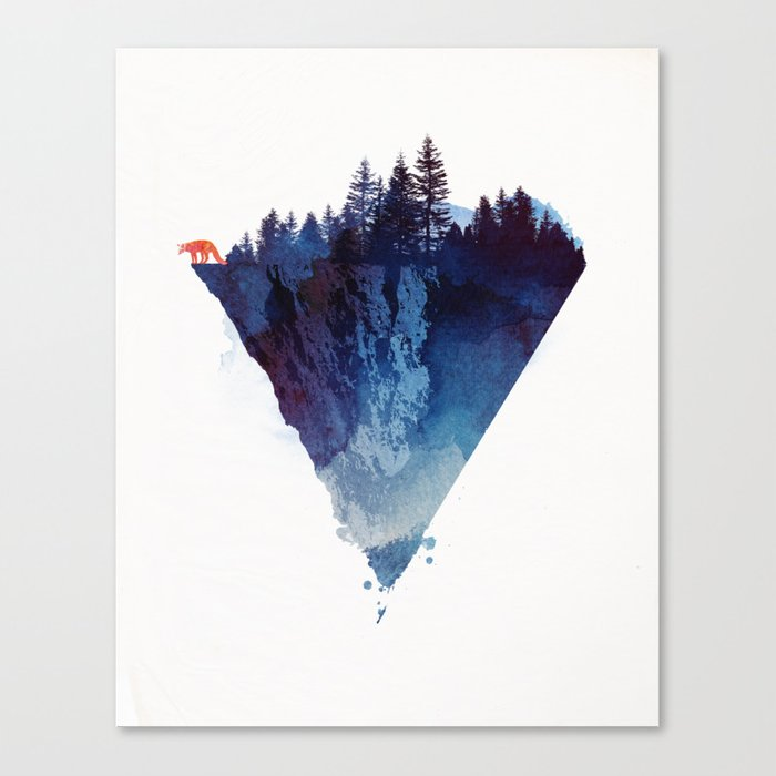 Near To The Edge Canvas Print By Astronaut Society6
