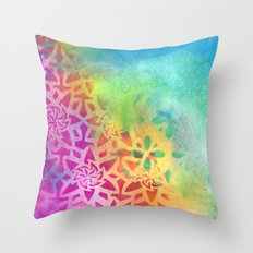 Between the pink and the blue Throw Pillow