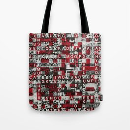 Paradox Network (P/D3 Glitch Collage Studies) Tote Bag