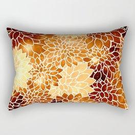 Space Dahlias Golden Bronze Rectangular Pillow