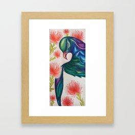 Kereru Pohutukawa Framed Art Print
