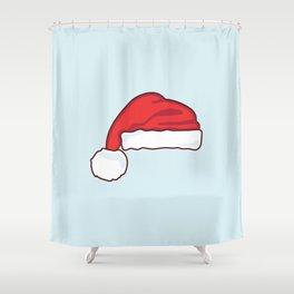 christmas santa claus hat Shower Curtain