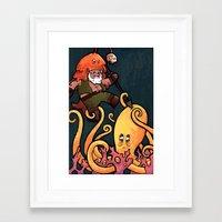 fight Framed Art Prints featuring Fight by Matt Sinor