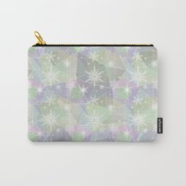 Polygon with snowflakes. Carry-All Pouch