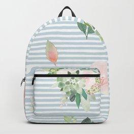 Floral stripes Backpack