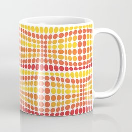 Dottywave - Orange Yellow wave dots pattern Coffee Mug