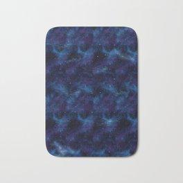 Blue space Bath Mat