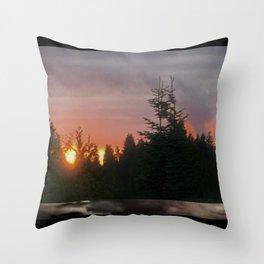 Fire like Sunrise Throw Pillow