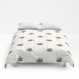 Palm Frond in Ivory and Sage Comforters