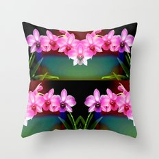 Magical Orchids Throw Pillow