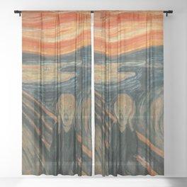 Classic Art - The Scream - Edvard Munch Sheer Curtain