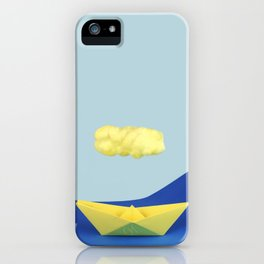 The yellow cloud over the yellow ship iPhone Case