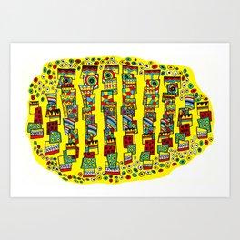 Tribal catch Art Print
