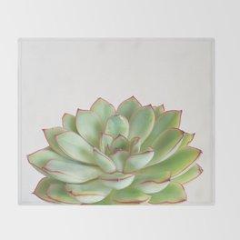 Green Succulent Throw Blanket