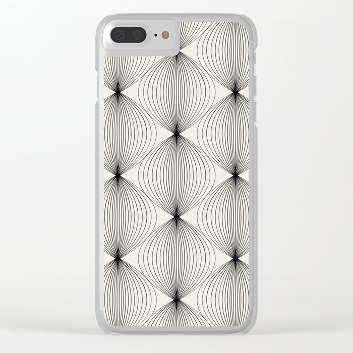 Geometric Orb Pattern - Black Clear iPhone Case