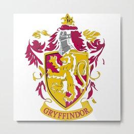 Gryfindor Lion Metal Print