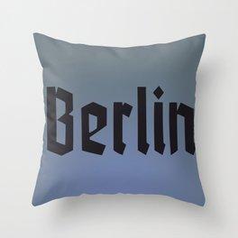 Berlin Fracture Font Throw Pillow