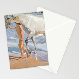 The Horse's Bath by Joaquin Sorolla Stationery Cards