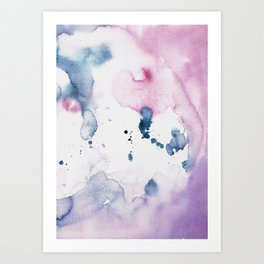 watercolor purple Art Print