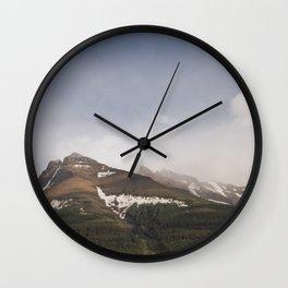 Landscape Mountain Photography | Alberta | Wild Wall Clock