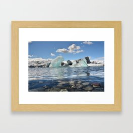 Lonely Ice Framed Art Print