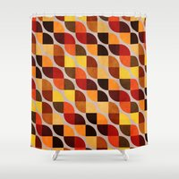 mandie manzano Shower Curtains featuring Ancestry by Diogo Verissimo