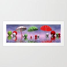 all my umbrellas Art Print