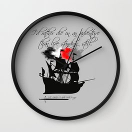 ADSOM-Lila Bard Wall Clock