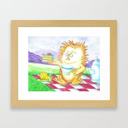 Hedgehog Tea Party Framed Art Print