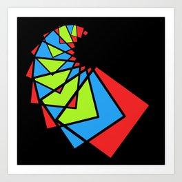 moving squares -14b- Art Print