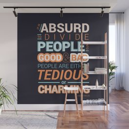 Oscar Wilde Charming Quote Poster Wall Mural