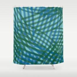 brush stroke overlap_dawn02 Shower Curtain
