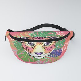 Pink Jungle Leopard Fanny Pack