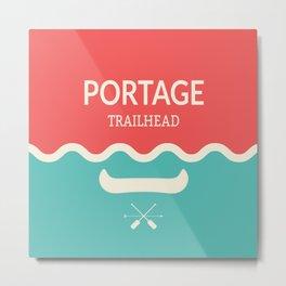 Wilderness: Portage Metal Print