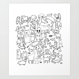 Animals you might see Art Print
