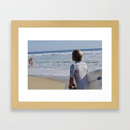 Surfer Boy Framed Art Print