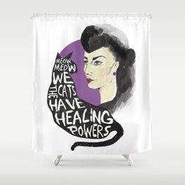 Healing powers Shower Curtain