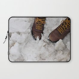 Snowshoeing Laptop Sleeve