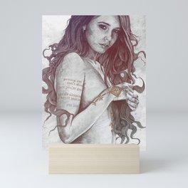 You Lied: Rainbow (nude girl with mehndi tattoos) Mini Art Print