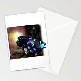 Hot Rods In Space Stationery Cards