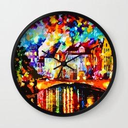 Tardis Art At The Bridge Wall Clock