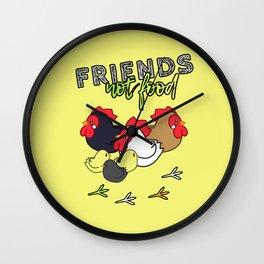 Friends Not Food ( Chicken Version ) Wall Clock