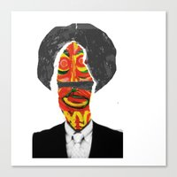 afro Canvas Prints featuring Afro by FUNCIT