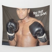 ali gulec Wall Tapestries featuring Ali #1 by YBYG