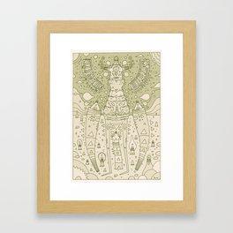 k e y z Framed Art Print