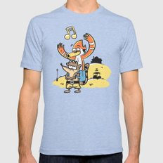 BANJOOOOOOOH! Tri-Blue LARGE Mens Fitted Tee