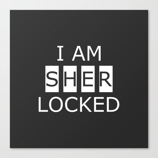 I AM SHERLOCKED Canvas Print