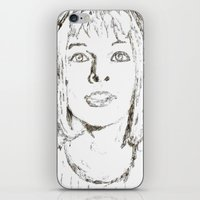 fifth element iPhone & iPod Skins featuring Leeloo Fifth Element sketch- Milla Jovovich  by Robin Stevens