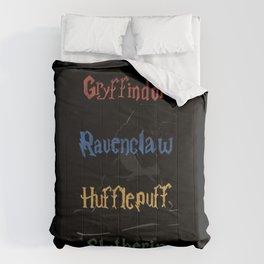 Sorting Hat houses black Comforters