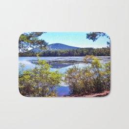 Shawnee Peak from Moose Pond in Maine (4) Bath Mat